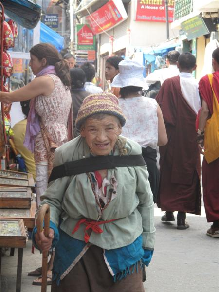 Old Tibetan lady in the streets of Upper Dharamsala.