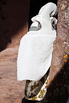 Woman in a church, Lalibela, Ethiopia