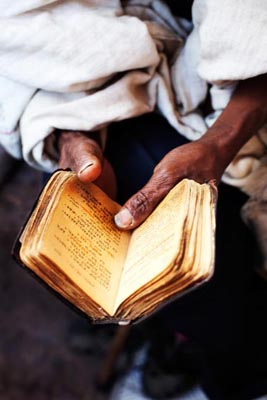 Praying book, Lalibela, Ethiopia