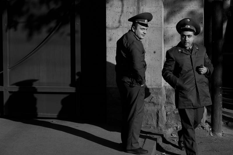 The KGB patrol outside the British foreign embassies