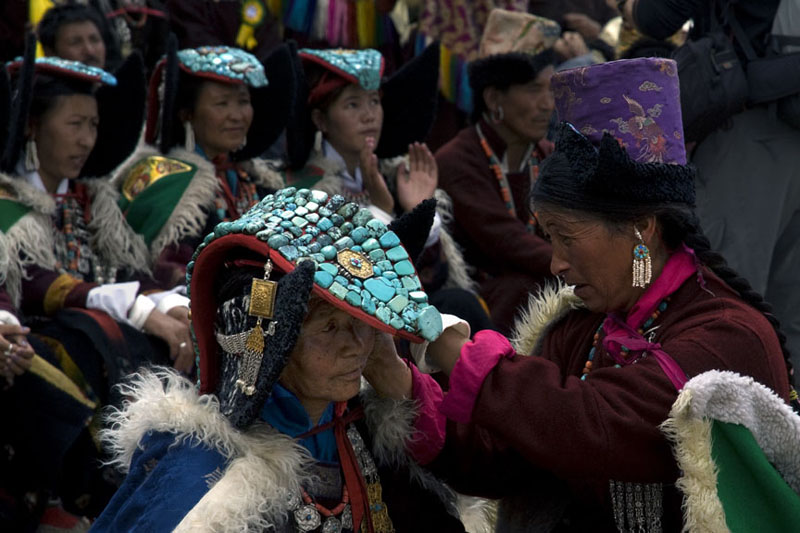 Changpa women in their traditional dress