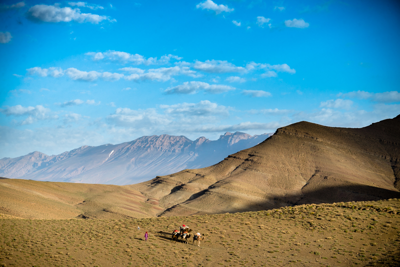 The caravan at high atlas