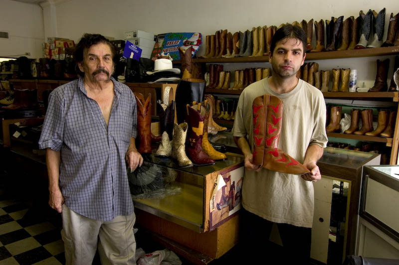 Felipe Ramirez and Felipe Jr., Ramirez Boot Shop
