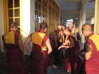 Tibetan Monks debate at the main Temple.