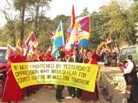 Tibetans Protest on the 50 th anniversary of exile.
