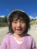 Young Tibetan Girl in Tawang, an Indian region bordering China's Tibet