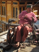 Lady makes blanket-Chitkul