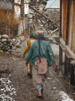 Kinnauri Women walk in Chitkul