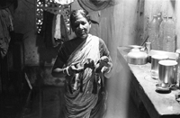 Mrs. Maya Dey in her house
