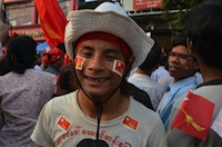Young NLD supporter