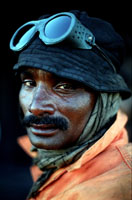Rashed, a labourer at the Gaddani ship-breaking yard