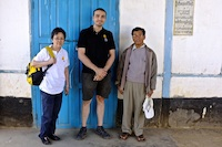 Siew Kim Teo, Paul Athanasiov and Myanmar colleague at Falam Eye Centre