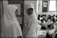 Two students from the Fajar Hidayah organization at an orphanage in Banda Aceh Indonesia.