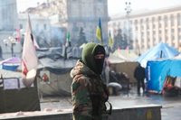 Guard at Maidan Entrance