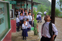 At the time of rain at Dentam Som primary school