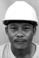 portait of a Shan construction worker