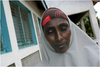 A Somali woman on the UNHCR compound.