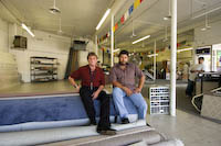 Gene and Gus at C&B Carpet Outlet